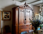 Antique French cabinet Louis XVI breakfront cabinet cupboard closet 1760 - 1780 18th century Baroque