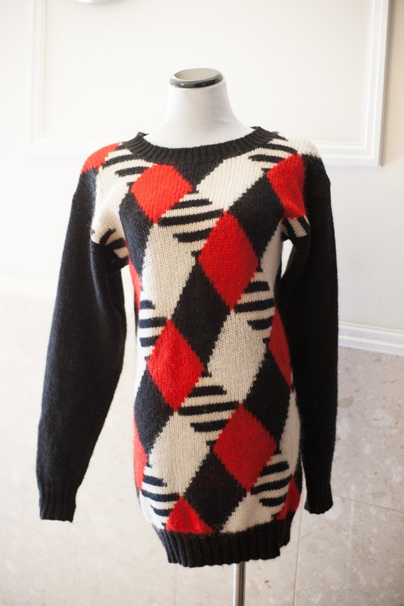 Christian Dior Argyle Sweater Mohair Sweater Angor