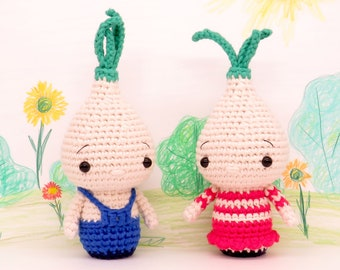 6 Adorable Amigurumi Flower Bulb Free Crochet Pattern and Paid | 270x340