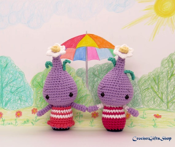 Crochet Spring Flower Bulb Doll Amigurumi Free Patterns | Doll ... | 477x570