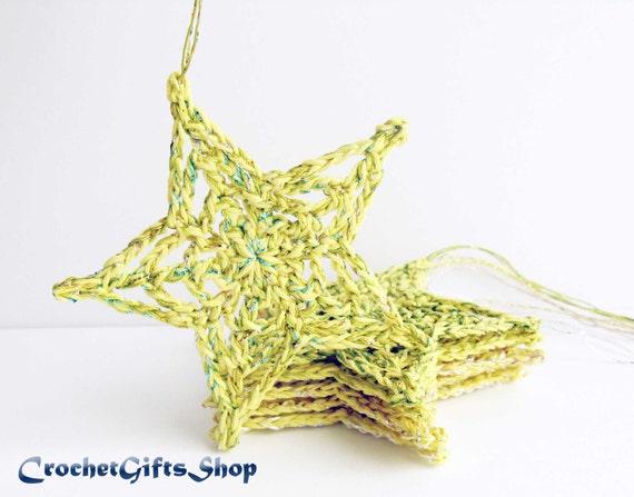 Crochet Patterns Christmas Star Ornaments Xmas Pdf Pattern Etsy