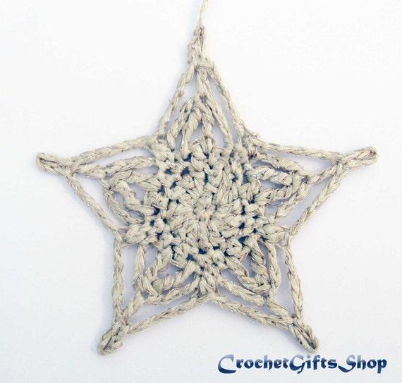 Christmas Star Crochet Patterns Ornaments Xmas Pdf Pattern Etsy