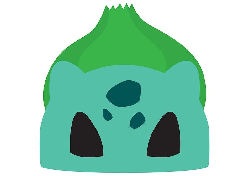 picture relating to Pokemon Mask Printable called Bulbasaur (Pokemon) Printable Mask
