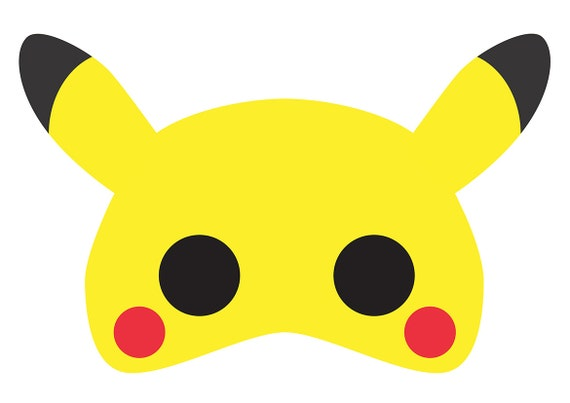 It is a picture of Pokemon Mask Printable throughout paper