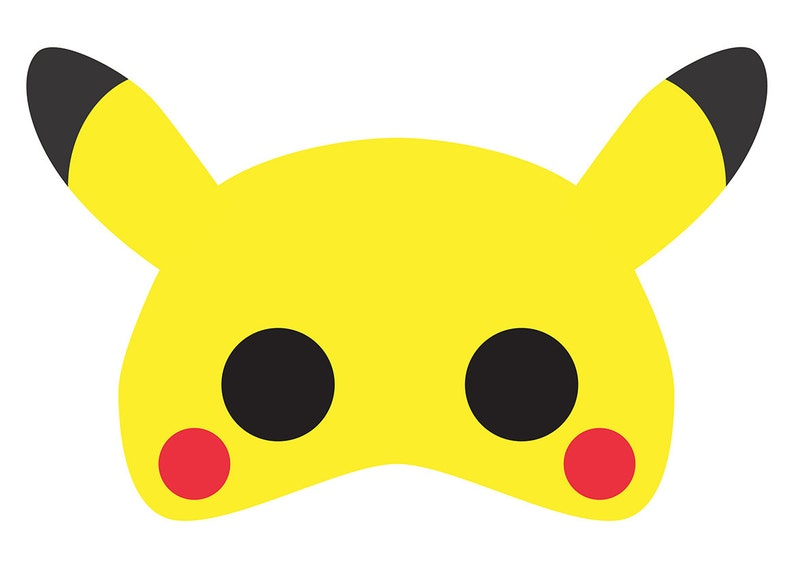 photo regarding Pikachu Printable known as Pikachu (Pokemon) Printable Mask