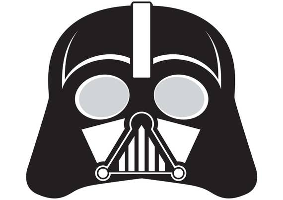 It is an image of Darth Vader Mask Printable for traceable