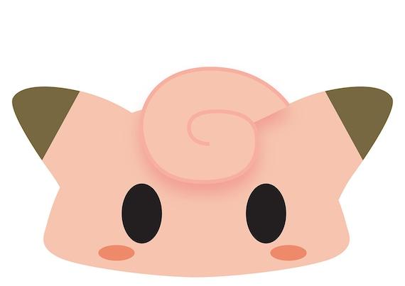 graphic regarding Pokemon Mask Printable called Clefairy (Pokemon) Printable Mask