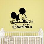 Micky Maus benutzerdefinierten Namen Wandtattoo personalisierte  Walt-Disney-Vinyl-Aufkleber-Kunst-Home Innenausstattung lustige  Kinderzimmer ...