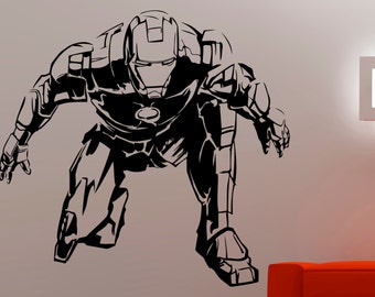 More colors. Iron Man Wall Decal ... & Iron man wall decal | Etsy