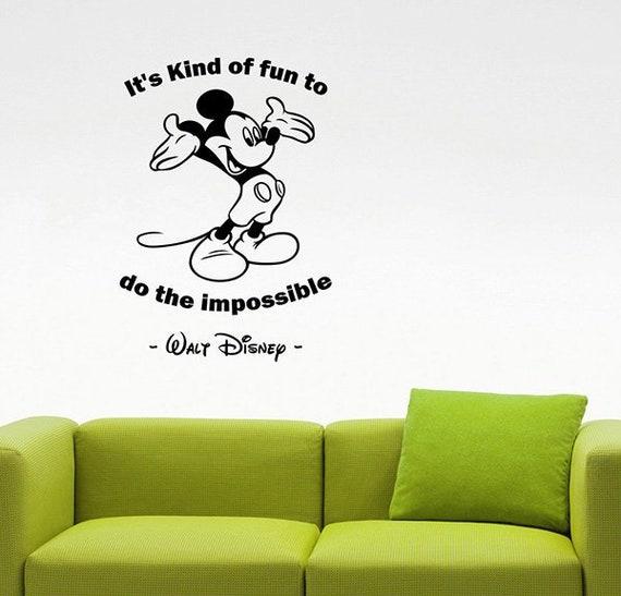 Es Ist Art Spaß Kinder Walt Disney Inspirierend Zitat Wand Aufkleber Mickey Maus Vinyl Aufkleber Spruch Haus Innenausstattung Kunst Dekor 23qz