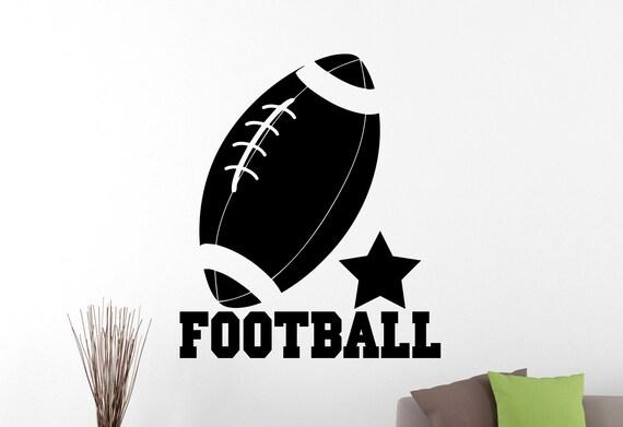 Fussball Zeichen Wand Aufkleber Vinyl Aufkleber Nfl Sport Art Home Innendekoration Kids Boys Zimmer Schlafzimmer Turnhalle Dekor Aufkleber 70obmf