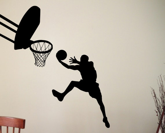 1 x I/'d Rather be Playing Basketball-Internal Sticker-Car,Sport,Ball,Hoops,Game