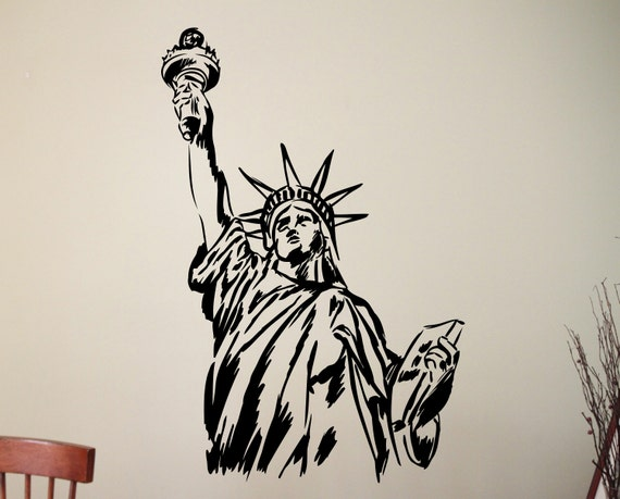 USA Statue of Liberty amazing wall stickers vinyl decal highest quality NEW UK