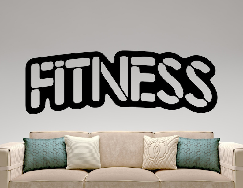 fitness wall decal gym stickers sports wall art gym decoration | etsy