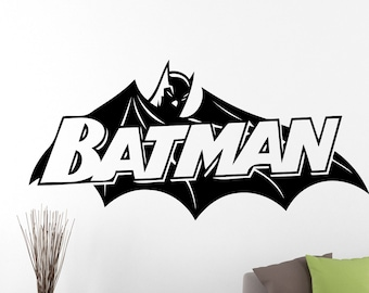 Batman Wall Decal Cartoon Sticker Superhero Decorations Comics Movie Vinyl Art Home Living Room Dorm Boys Room Decor 1ezz