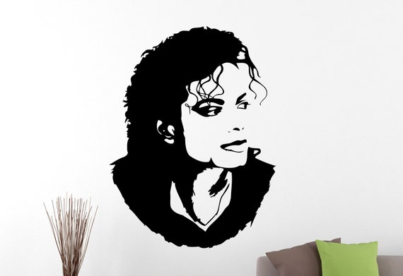 michael jackson wall sticker decal home interior decorations | etsy