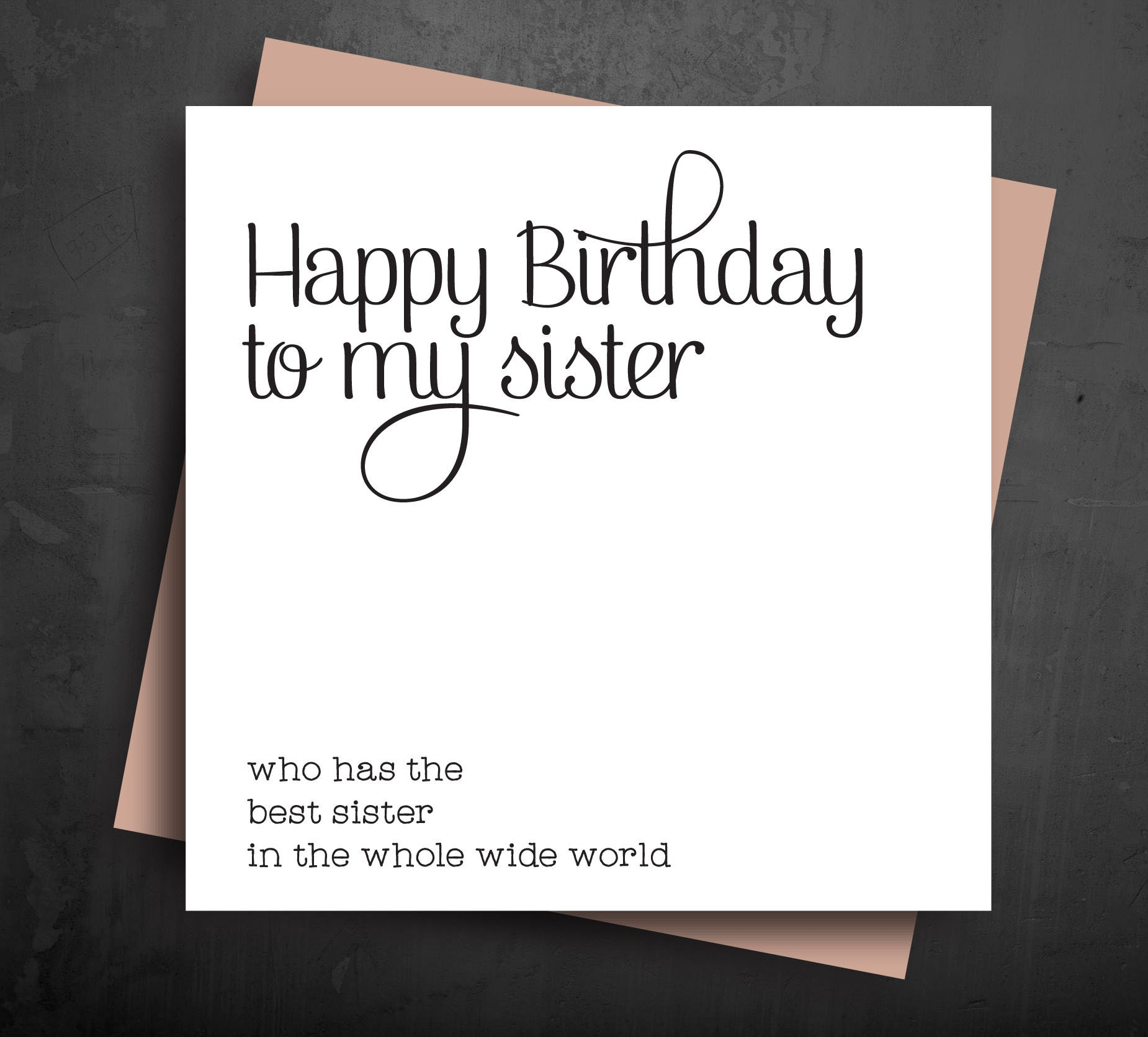 SISTER BIRTHDAY CARD Funny Greeting Cards Best Sister In