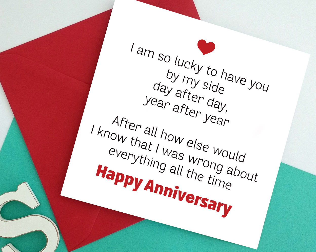 funny Wedding Anniversary greeting card for husband wife | Etsy