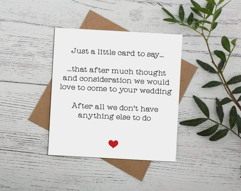 rsvp wedding acceptance cards card reply invite nothing