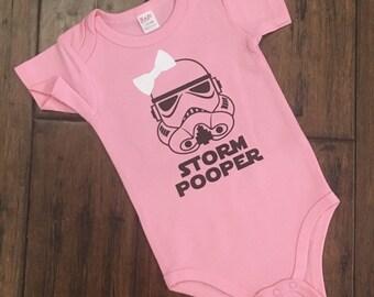 Printed Baby Grow Pug Trooper