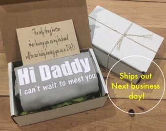 82337293e Pregnancy announcement onesie ® gift box suprise pregnancy reveal you're  going to be a daddy Onesie® gift for new dad gift for dad husband