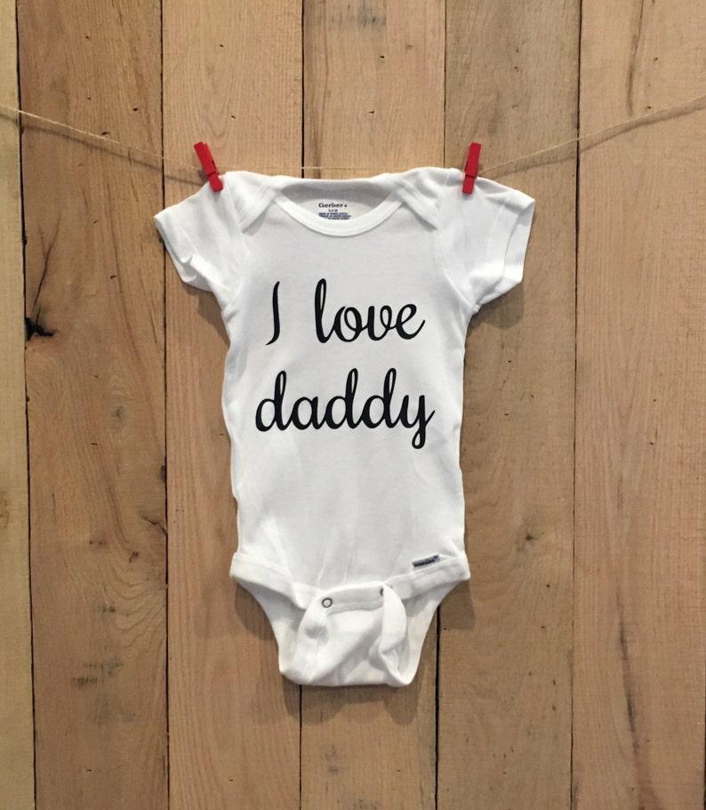 gift for dad pregnancy reveal Pregnancy announcement ONESIE\u00ae i love daddy onesie\u00ae gift for new dad new dad husband pregnancy announcement