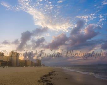 Beautiful Alabama Beach Prints, Landscape Ocean Print Shop, Beach Prints for Sale, 5x7 Ocean Print, Photos of Ocean Sunrise, Sunrise Prints