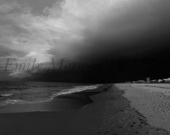 Black and White Landscape Photography Print Shop, Alabama Ocean Prints, Beach Photography, Ocean Prints, Gulf Shores Alabama Prints, Nature