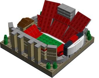 Mini Wisconsin Camp Randall Stadium Custom Brick Set with Printed Instructions