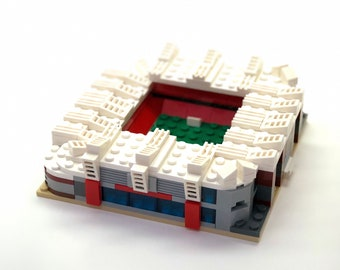 Mini Manchester United Old Trafford Custom Brick Set with Printed Instructions