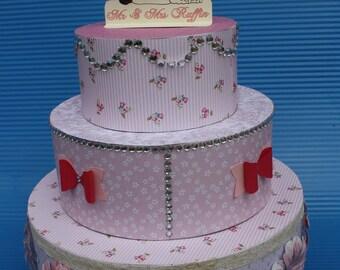 Faux cake wedding shabby chic