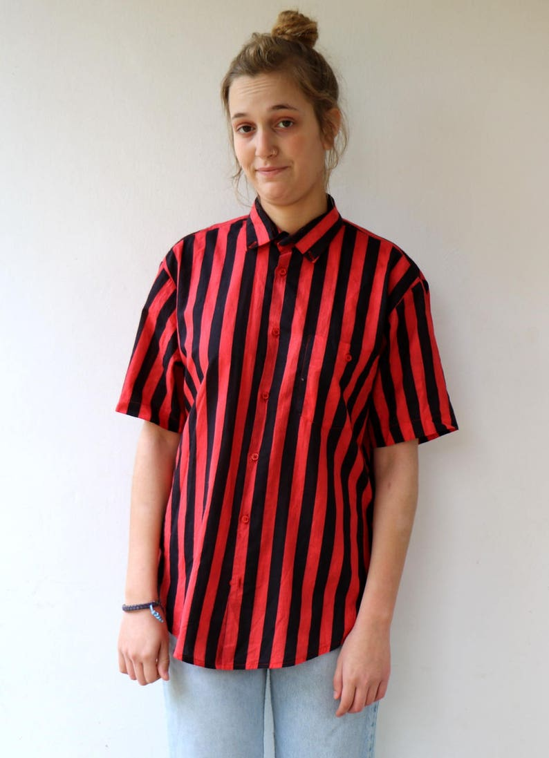 00ead70f8a Chic White and Red Striped Dress - T-Shirt Dress - Shift Dress