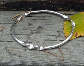Sterling Silver Three Twist Bangle Bracelet