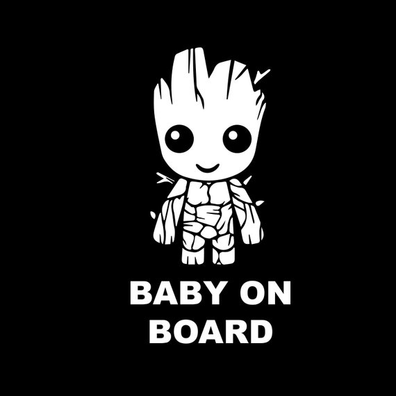 Guardians of The Galaxy Vinyl Vehicle Kids Graphic Decal Groot Baby on Board
