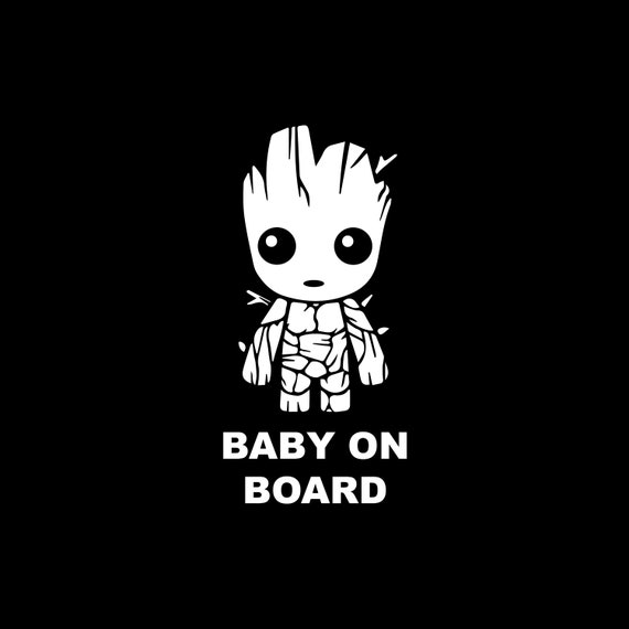 Baby Groot on Board Sticker vinyle b/éb/é Groot /à bord diff/érentes tailles