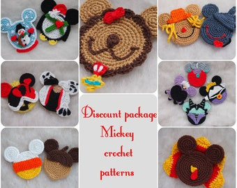 Mickeyminnie Mouse Christmas Crochet Pattern Christmas Ornament