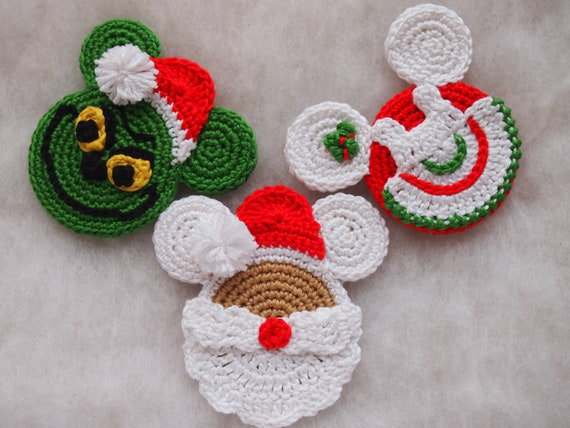 Mickey Mouse Minnie Mouse Crochet Pattern Mickey Santa Claus Etsy