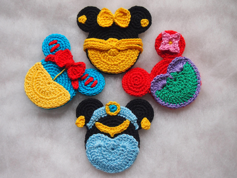 Disney Minnie Mouse Crochet Pattern Snow White Jasmine Etsy