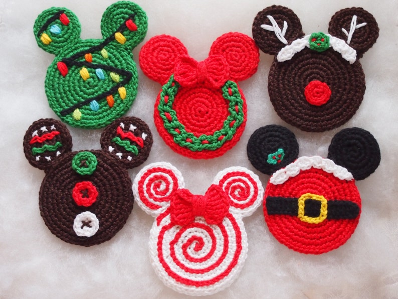 Mouse Christmas crochet pattern Christmas Ornament Christmas image 0