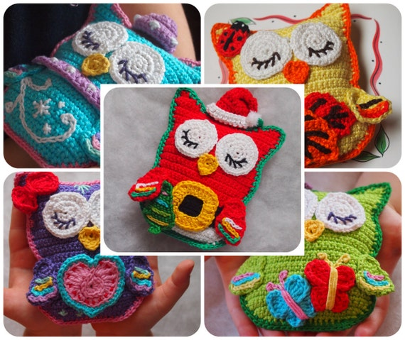 Buy 5 Patterns For The Price Of 3 Crochet Owl Pattern Owl In Etsy