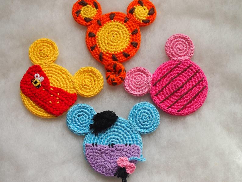 Disney Winnie The Pooh Mickey Mouse Ears Crochet Pattern Etsy