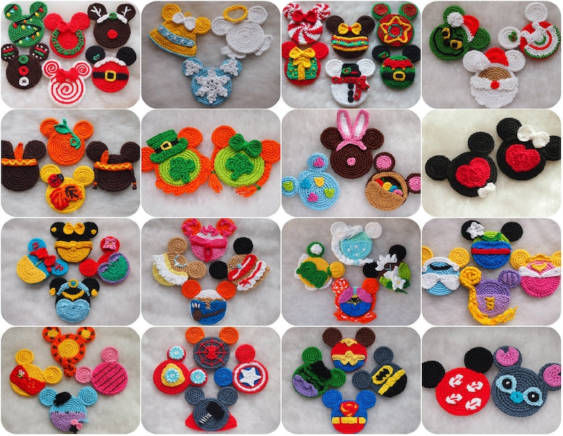 Mickey Minnie Mouse Crochet Pattern Discount Package Fall Etsy
