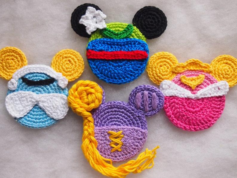 Disney Minnie Mouse Crochet Pattern Aurora Cinderella Mulan Etsy