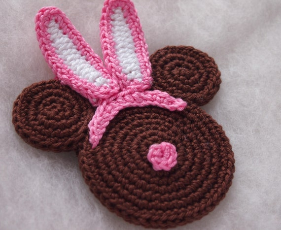 Easter Bunny Minnie Head Crochet Pattern Easter Minnie Mouse Etsy