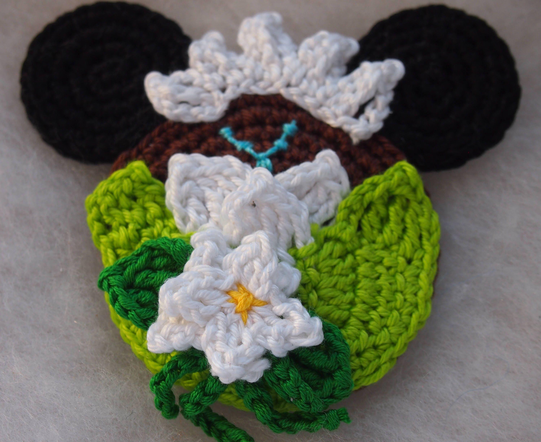 Disney Princess Tiana Minnie Mouse Ears Crochet Pattern The Etsy