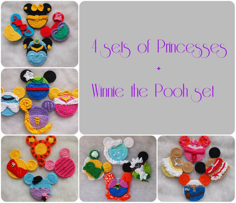 Mickey Minnie Mouse Crochet Pattern Discount Package Disney Etsy