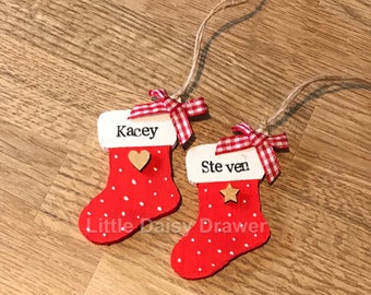 Personalised Christmas Stocking Decoration