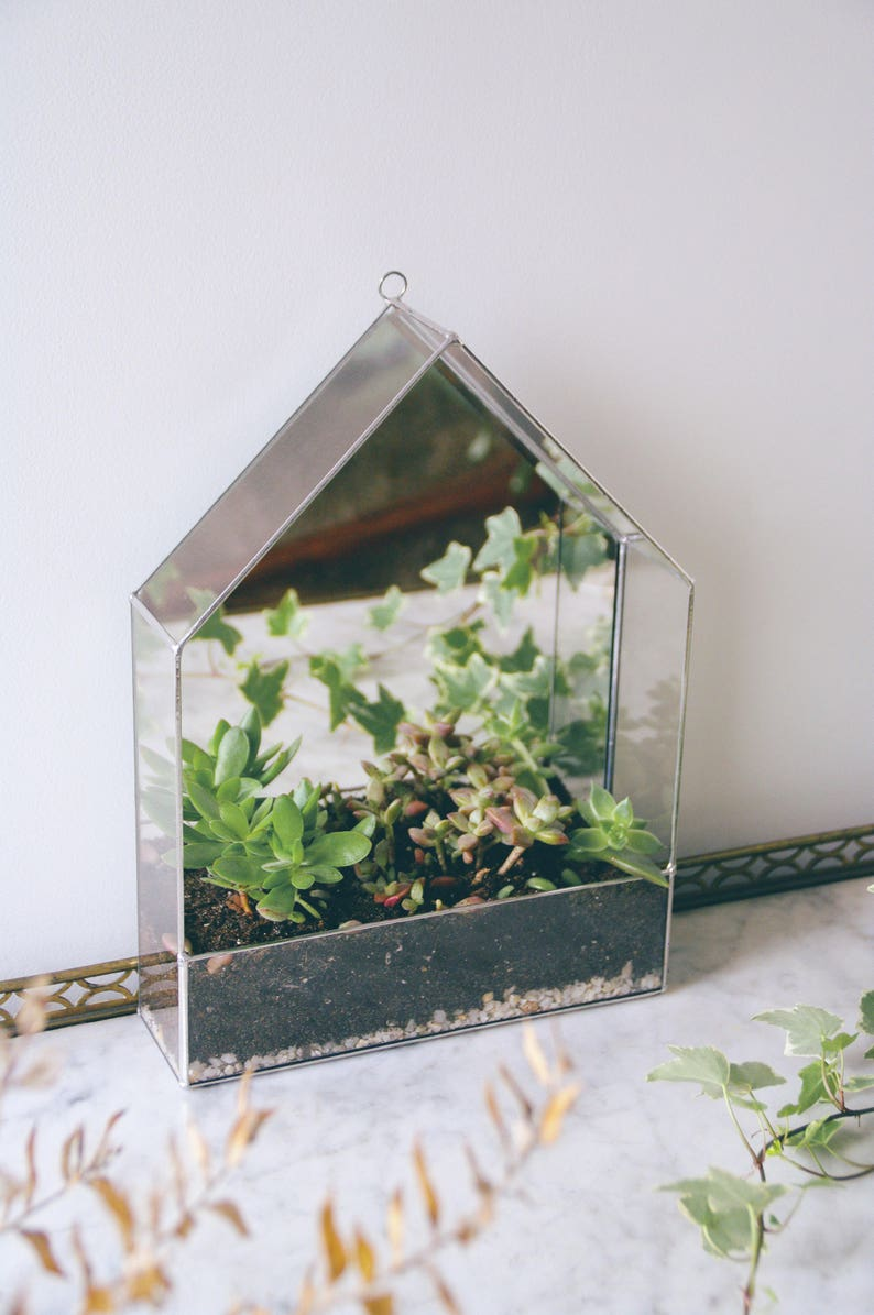 Geometric Glass Terrarium Glass House Greenhouse Hanging Etsy