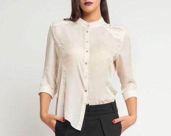 a719206b21e Plus size silk shirt