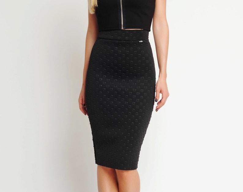 750d77c09e6d Black Midi Skirt Suit Skirt Black Pencil Skirt Plus Size | Etsy